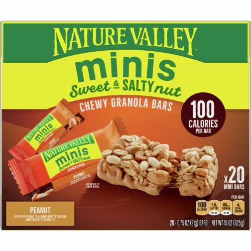 Nature Valley Sweet & Salty Nut Peanut Mini Chewy Granola Bars Perspective: front