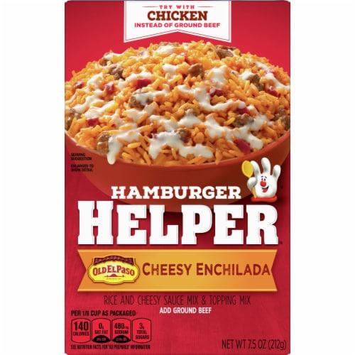 Hamburger Helper Cheesy Enchilada Rice Mix Perspective: front