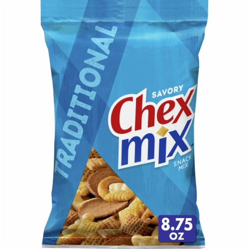 Chex Mix Traditional Savory Snack Mix Perspective: front