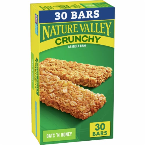 Nature Valley Crunchy Oats 'n Honey Granola Bars Perspective: front