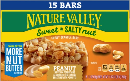 Nature Valley Sweet & Salty Nut Peanut Granola Bars Family Pack Perspective: front