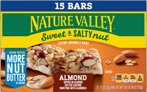 Nature Valley Sweet & Salty Nut Almond Chewy Granola Bars Family Pack Perspective: front