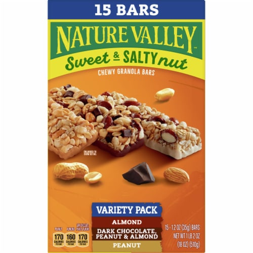 Nature Valley Sweet & Salty Nut Chewy Granola Bar Variety Pack Perspective: front
