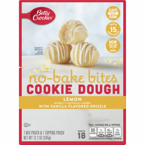 Betty Crocker No-Bake Lemon Cookie Dough Bites Perspective: front