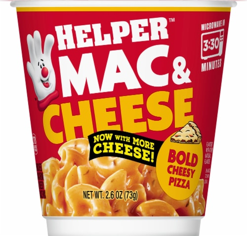 Hamburger Helper Bold Cheesy Pizza Mac & Cheese Microwave Cup Perspective: front