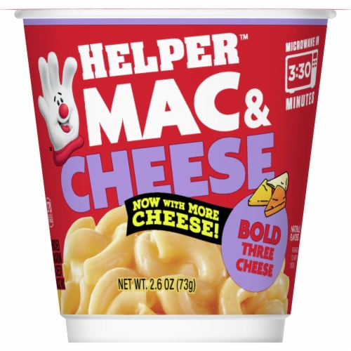 Hamburger Helper Bold Three Cheese Mac & Cheese Microwave Cup Perspective: front