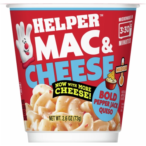 Hamburger Helper Bold Pepper Jack Queso Mac & Cheese Microwave Cup Perspective: front