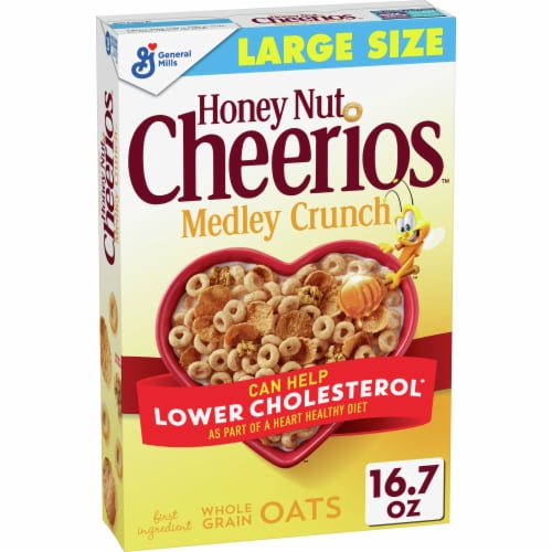 Cheerios Honey Nut Medley Crunch Cereal Perspective: front