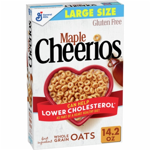 Cheerios Gluten Free Maple Sweetened Whole Grain Oats Cereal Perspective: front