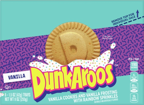DunkAroos Vanilla Cookies with Frosting Perspective: front