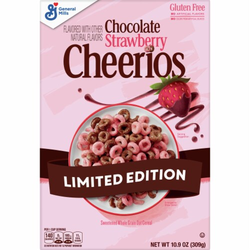Cheerios Chocolate Strawberry Cereal Limited Edition Perspective: front