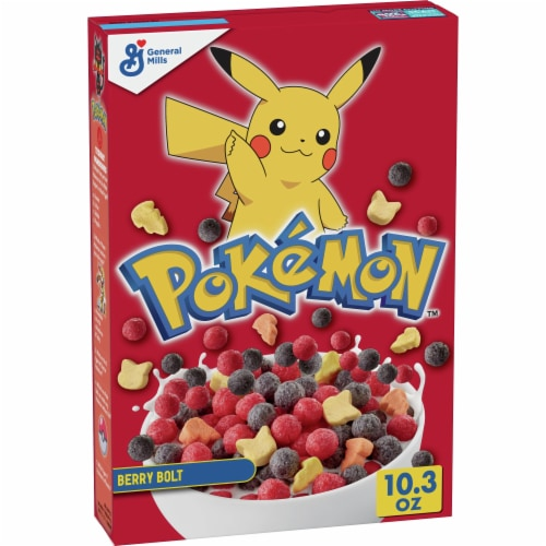 General Mills Pokemon Berry Bolt Cereal Perspective: front