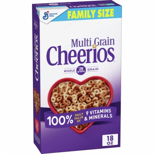 Cheerios Multi Grain Cereal Family Size Perspective: front