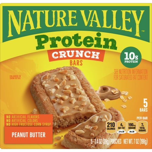 Nature Valley Protein Peanut Butter Crunch Bars Perspective: front