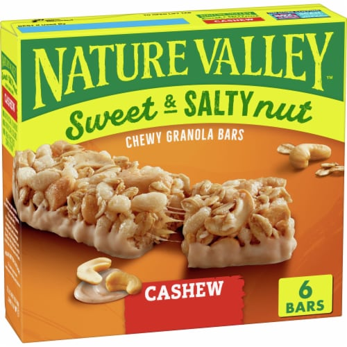 Nature Valley Sweet & Salty Nut Cashew Chewy Granola Bars Perspective: front