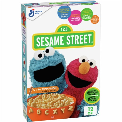 General Mills Sesame Street® C is for Cinnamon Cereal Perspective: front