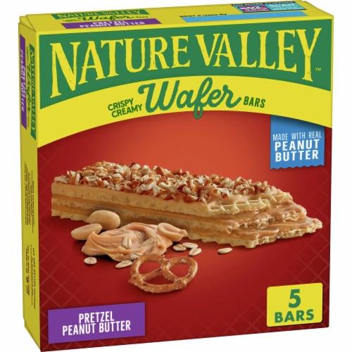 Nature Valley Pretzel Peanut Butter Crispy Creamy Wafer Bars Perspective: front