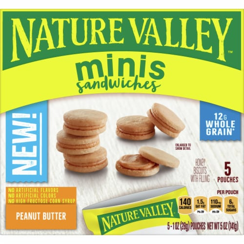 Nature Valley Mini Peanut Butter Sandwiches Perspective: front
