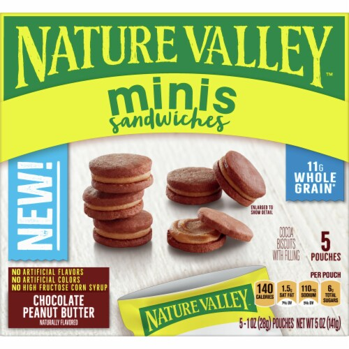 Nature Valley Mini Chocolate Peanut Butter Sandwiches Perspective: front