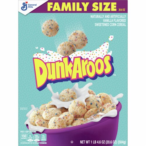 DunkAroos Cereal Perspective: front