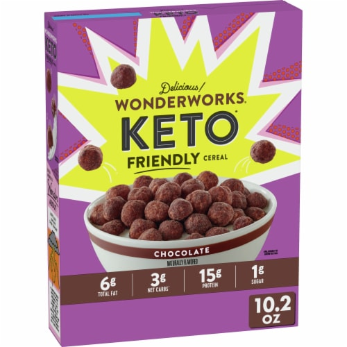 Wonderworks Keto Friendly Chocolate Cereal Perspective: front