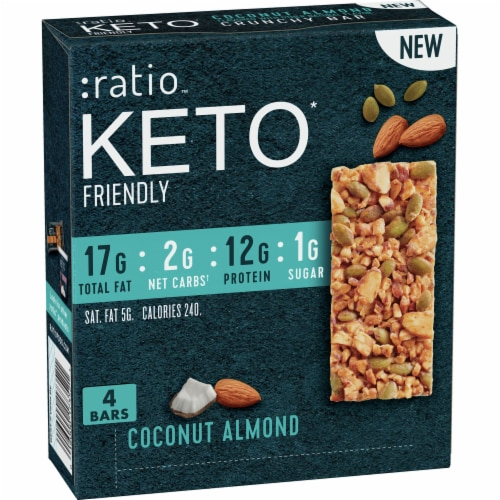 :ratio™ Keto Friendly Coconut Almond Crunchy Bars Perspective: front