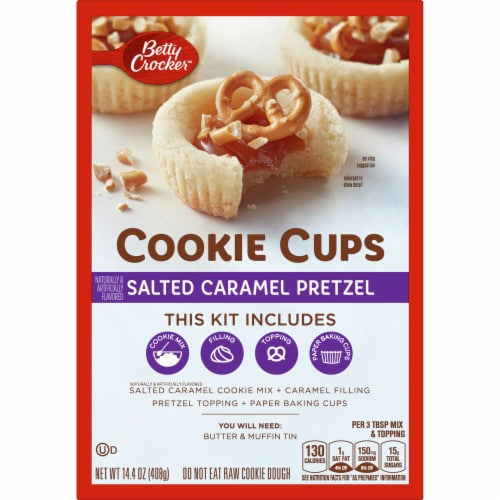 Betty Crocker Salted Caramel Pretzel Cookie Cups Kit Perspective: front