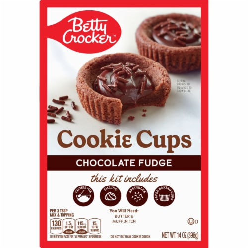 Betty Crocker Chocolate Fudge Cookie Cups Kit Perspective: front