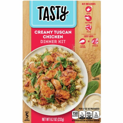 Tasty Creamy Tuscan Chicken Dinner Kit Perspective: front