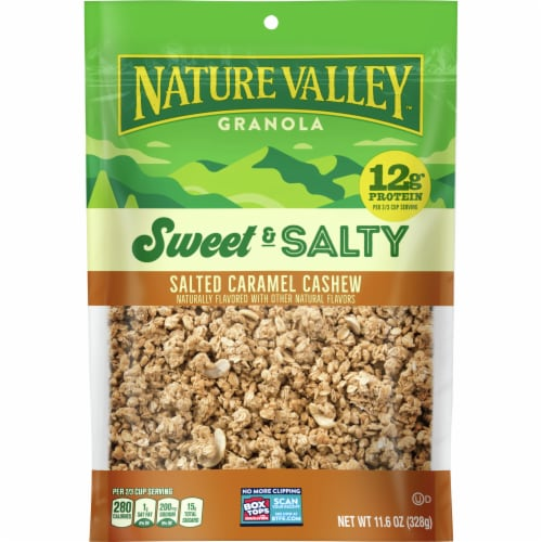 Nature Valley Sweet & Salty Caramel Cashew Granola Perspective: front