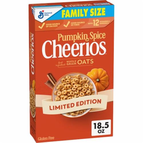 Pumpkin Spice Cheerios Cereal Perspective: front