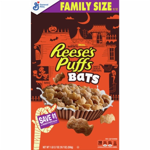 Reese's Puffs Bats Cereal Perspective: front