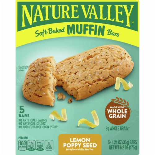 Nature Valley Soft-Baked Lemon Poppy Seed Muffin Bars Perspective: front