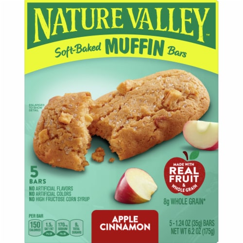 Nature Valley Soft-Baked Apple Cinnamon Muffin Bars Perspective: front