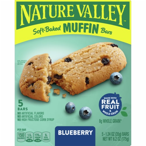 Nature Valley Soft-Baked Blueberry Muffin Bars Perspective: front