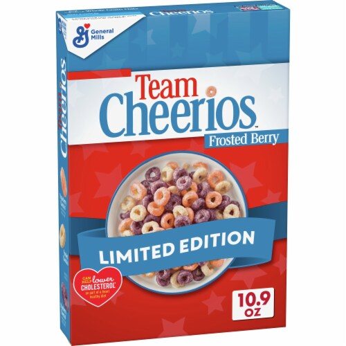 Cheerios Team Frosted Berry Cereal Perspective: front