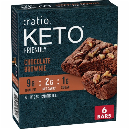 :ratio™ Keto Friendly Chocolate Brownie Soft Bake Bars Perspective: front