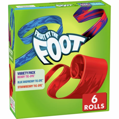 Fruit by the Foot Gluten Free Strawberry Berry & Rainbow Punch Flavored Snacks Perspective: front
