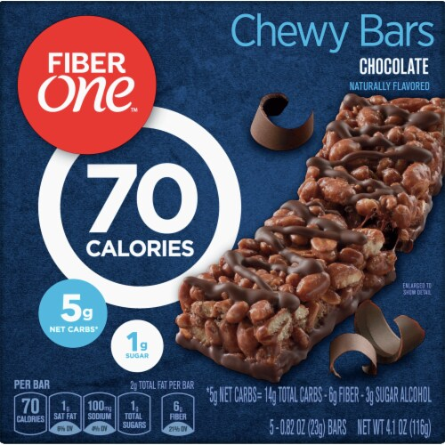 Fiber One 70 Calorie Chocolate Chewy Bars Perspective: front