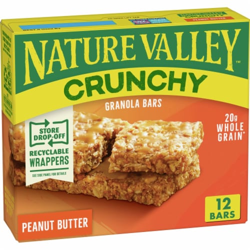 Nature Valley Crunchy Peanut Butter Granola Bars 12 Count Perspective: front