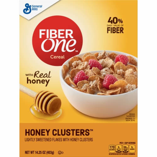 Fiber One Honey Clusters Cereal Perspective: front