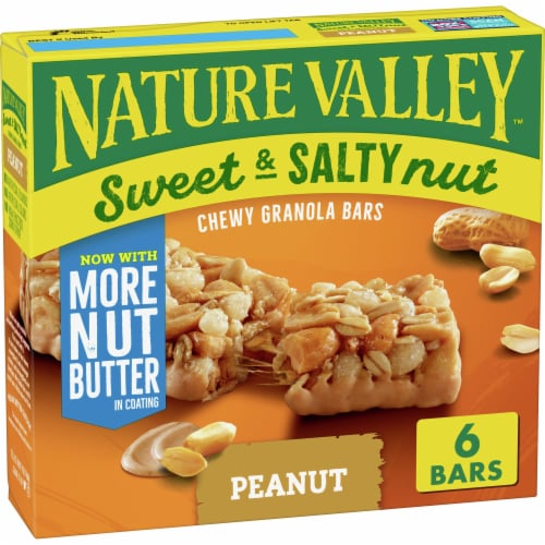 Nature Valley Sweet & Salty Nut Peanut Chewy Granola Bars Perspective: front
