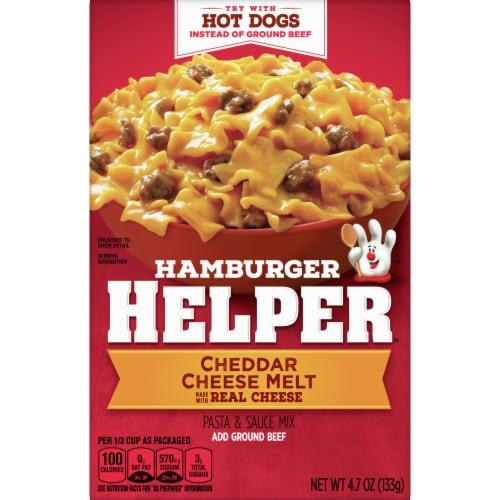 Hamburger Helper Cheddar Cheese Melt Pasta & Sauce Mix Perspective: front