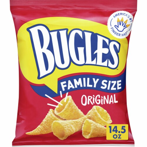 Bugles Original Flavor Crispy Corn Snacks Value Size Perspective: front