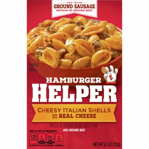 Hamburger Helper Cheesy Italian Shells Perspective: front