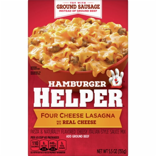 Hambuger Helper Four Cheese Lasagna Perspective: front