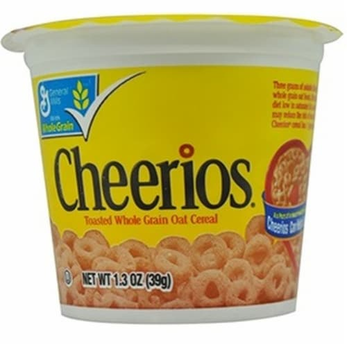 General Mills Cheerios Cereal, 1.3 oz In A Cup - Toasted Whole Grain Oat Cerel, -- 60  case. Perspective: front