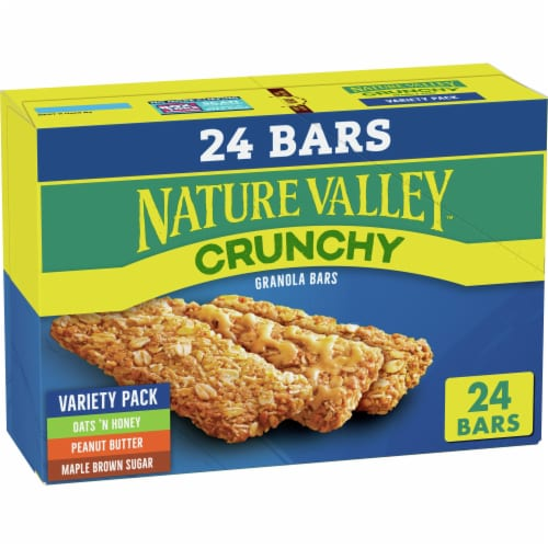 Nature Valley Crunchy Granola Bar Variety Pack Perspective: front
