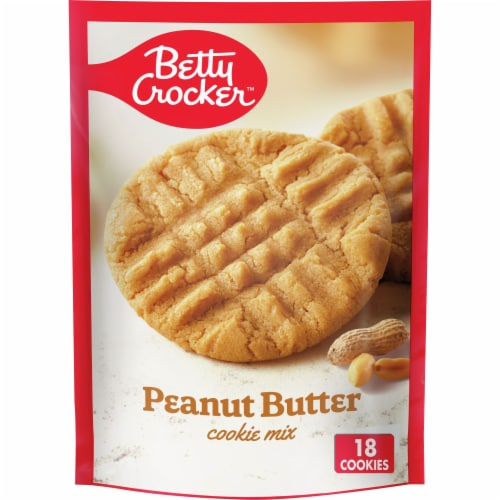 Betty Crocker Peanut Butter Cookie Mix Perspective: front