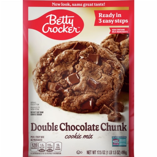 Betty Crocker Double Chocolate Chunk Cookie Mix Perspective: front